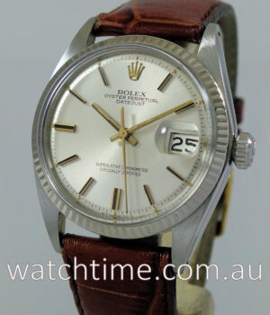 Rolex Datejust 1601 White-Gold bezel c 1966