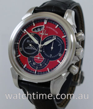 Omega DeVille Co-Axial Chronoscope Red Black dial 4851 61 31