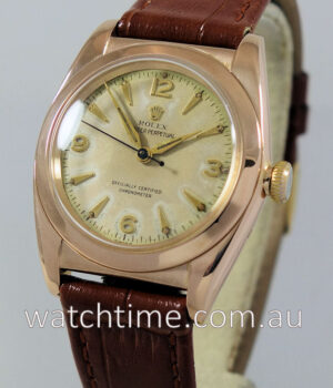Rolex Bubble-Back 18K Pink-Gold  c 1948