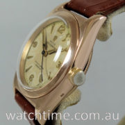 Rolex Bubble-Back 18K Pink-Gold  c.1948