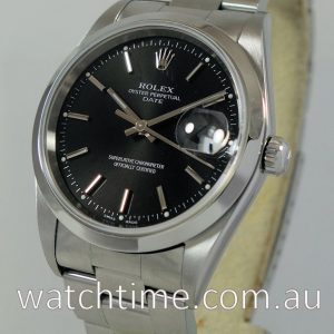 Rolex Oyster Date  15200  Black-dial