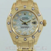 Rolex Datejust 18k Pearlmaster  Mother-of-Pearl Diamond Dial & Bezel  80318