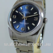Rolex Oyster 114200  Blue-Explorer-dial  March 2019