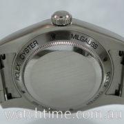 Rolex Milgauss Blue Dial, Green Crystal  116400GV