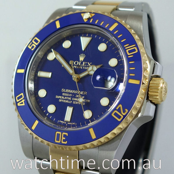 Rolex Submariner 116613LB Blue-Dial  Box & Papers