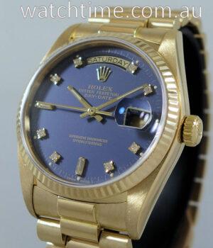 Rolex Day-Date President  18038  Blue Diamond-dial