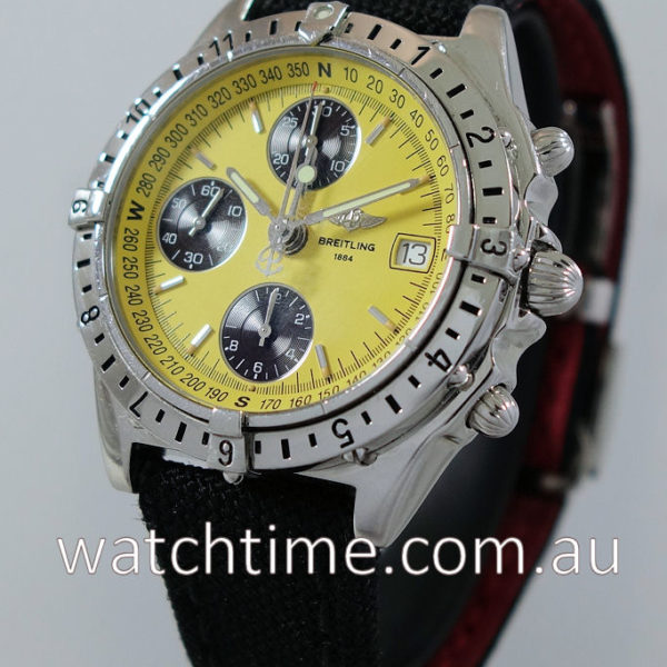 Breitling 'Chronomat Longitude' GMT  Yellow-Dial  A20048