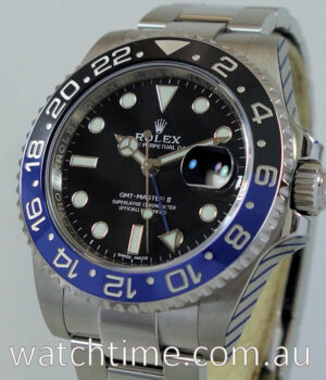 Rolex GMT MASTER II  BATMAN  116710BLNR  JUNE 2017 Box   Card  AS NEW  IN STOCK NOW