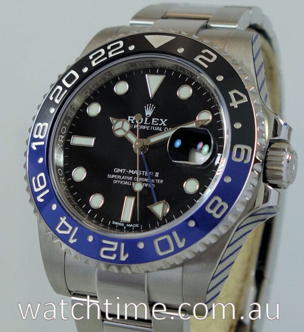 """Rolex GMT MASTER II """"BATMAN"""" 116710BLNR  JUNE 2017 Box & Card """"AS NEW"""" IN STOCK NOW!"""