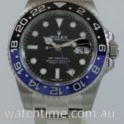 "Rolex GMT MASTER II ""BATMAN"" 116710BLNR  JUNE 2017 Box & Card ""AS NEW"" IN STOCK NOW!"