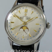 1950s Omega Triple Calendar Moonphase XL Steel