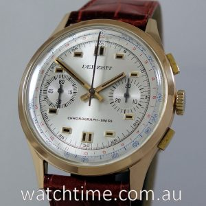 18k Rose-Gold Chronograph Swiss  1950s