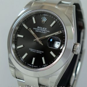 Rolex Datejust 41 Black-Dial  126300   B P 2019 Factory plastic Intact