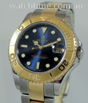 Rolex Yachtmaster 18k Gold   Steel 35mm Blue-dial Mid-Size 168623