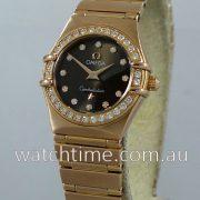 OMEGA Constellation Mini 18k Rose-Gold Diamond dial & Diamond Bezel