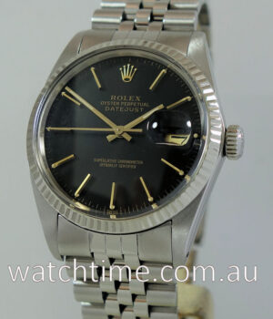 Rolex Datejust 36 Black-dial  White-Gold Bezel 16014