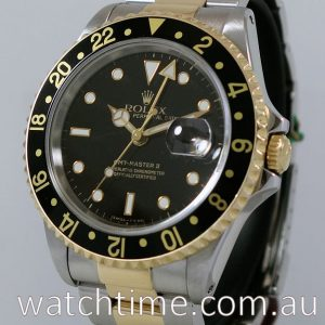Rolex GMT Master II  16713  18k   Steel Box   Papers 1997