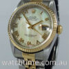 Rolex Datejust 18k & Steel, 16233  Mother of Pearl dial