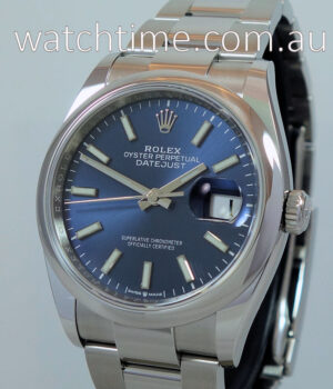 Rolex Datejust 36 Blue Dial 126200 July 2020 As New