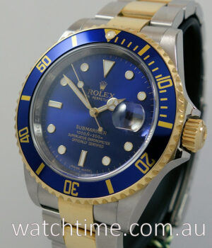Rolex Submariner Date 18k   Steel   AS BRAND NEW  Blue dial 16613 SOLD