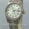 Rolex Lady Datejust, 18k White-Gold, Diamonds  69179