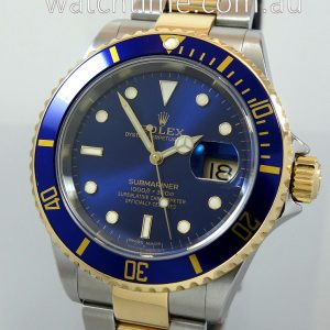 Rolex Submariner Date 18k   Steel  Blue dial 16613