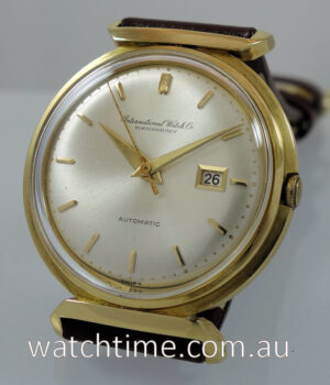 1968 IWC in 18k Yellow-Gold  Auto with Date