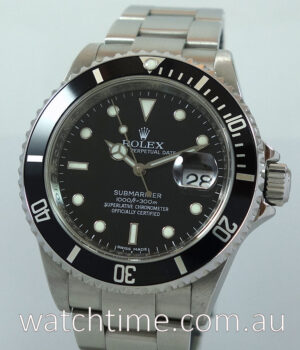 Rolex Submariner Date 16610   Box   Papers 2008  AS NEW