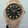 Rolex Day-Date II Everose, Black Ruby & Diamond Dial 218235 SOLD!!!