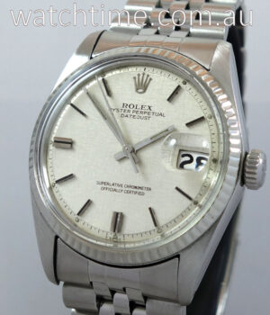 Rolex Datejust  36mm White-Gold bezel Rare Linen Dial 1600