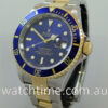 """Rolex Submariner Date 18k & Steel, """"Mint"""" Blue dial 16613  Box & Papers"""
