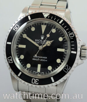 Rolex 5513 Submariner 1976 Original Box   Punched Papers