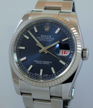 Rolex Datejust BLUE 116234  Box   Papers 36mm Oct 2017