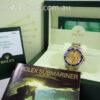 Rolex Submariner 18k & Steel 16613  Factory Champagne Serti-Dial