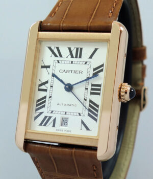 Cartier Tank Solo 18K Rose-Gold  XL Size  W5200026  AS NEW