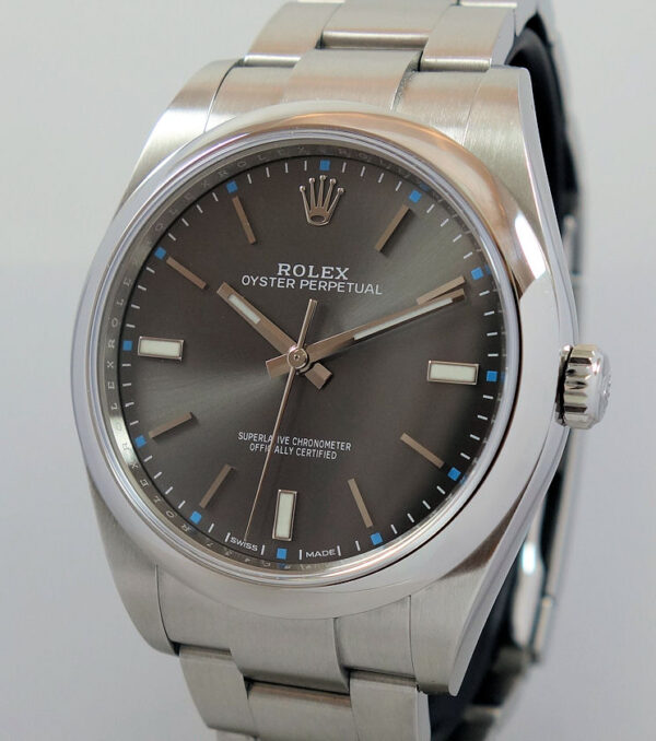Rolex Oyster Perpetual 39  Rhodium dial  114300