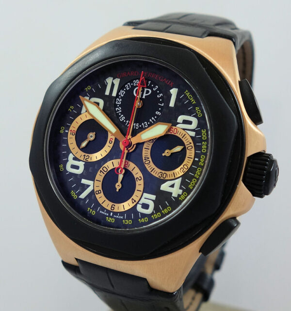 Girard Perregaux Laureato Chronograph USA Exclusive 46mm 18k Rose Gold Ref 80178 Limited Edition #1 of 35 Pieces
