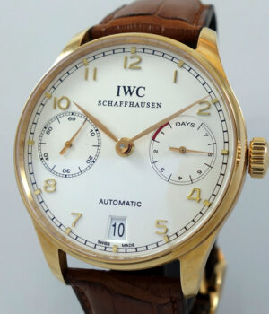 IWC Portuguese Automatic 7 days 18k Rose Gold IW500101 2009 Box   Papers