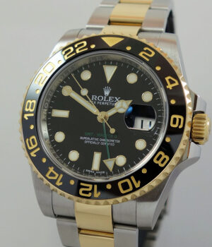 Rolex GMT Master 18k   Steel  116713LN  Box   Papers 2015