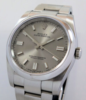 Rolex Oyster Perpetual 116000 Silver-dial  36mm Dec 2016